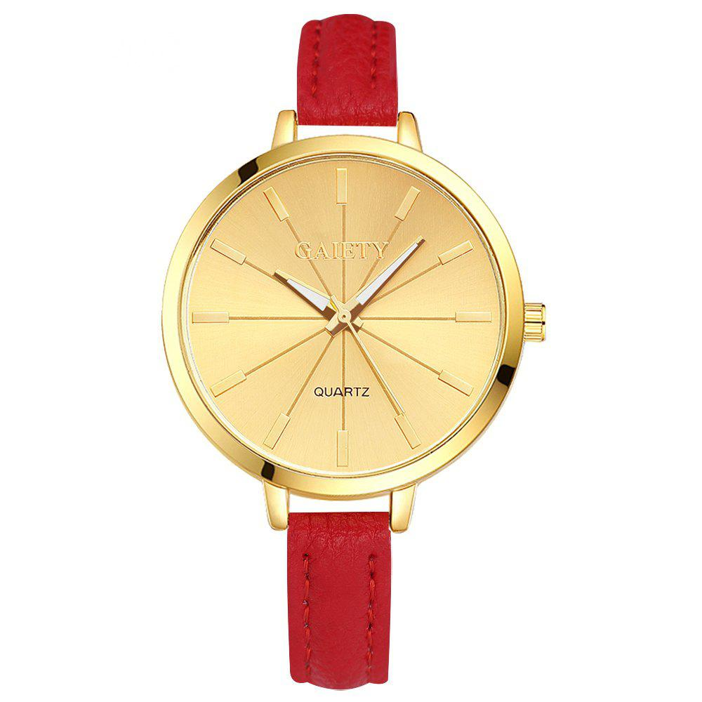 GAIETY G321 Women Fashion Leather Watch - RED