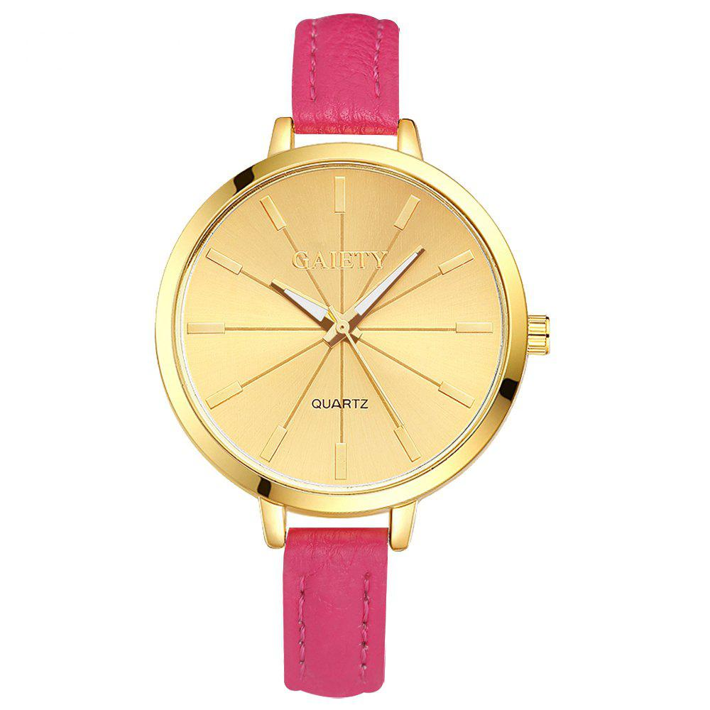 GAIETY G321 Women Fashion Leather Watch - ROSE RED