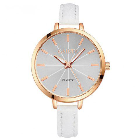 GAIETY G322 Women Fashion Leather Watch - WHITE