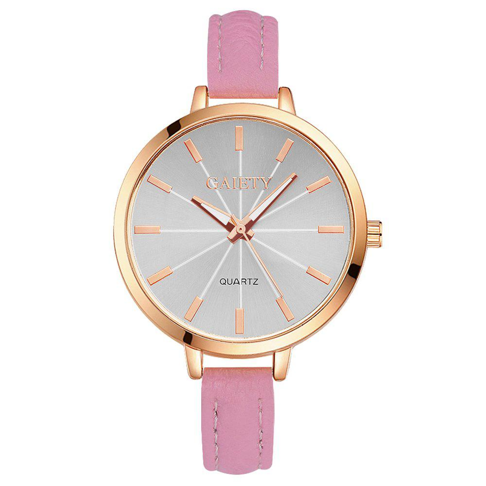 GAIETY G322 Women Fashion Leather Watch - PINK