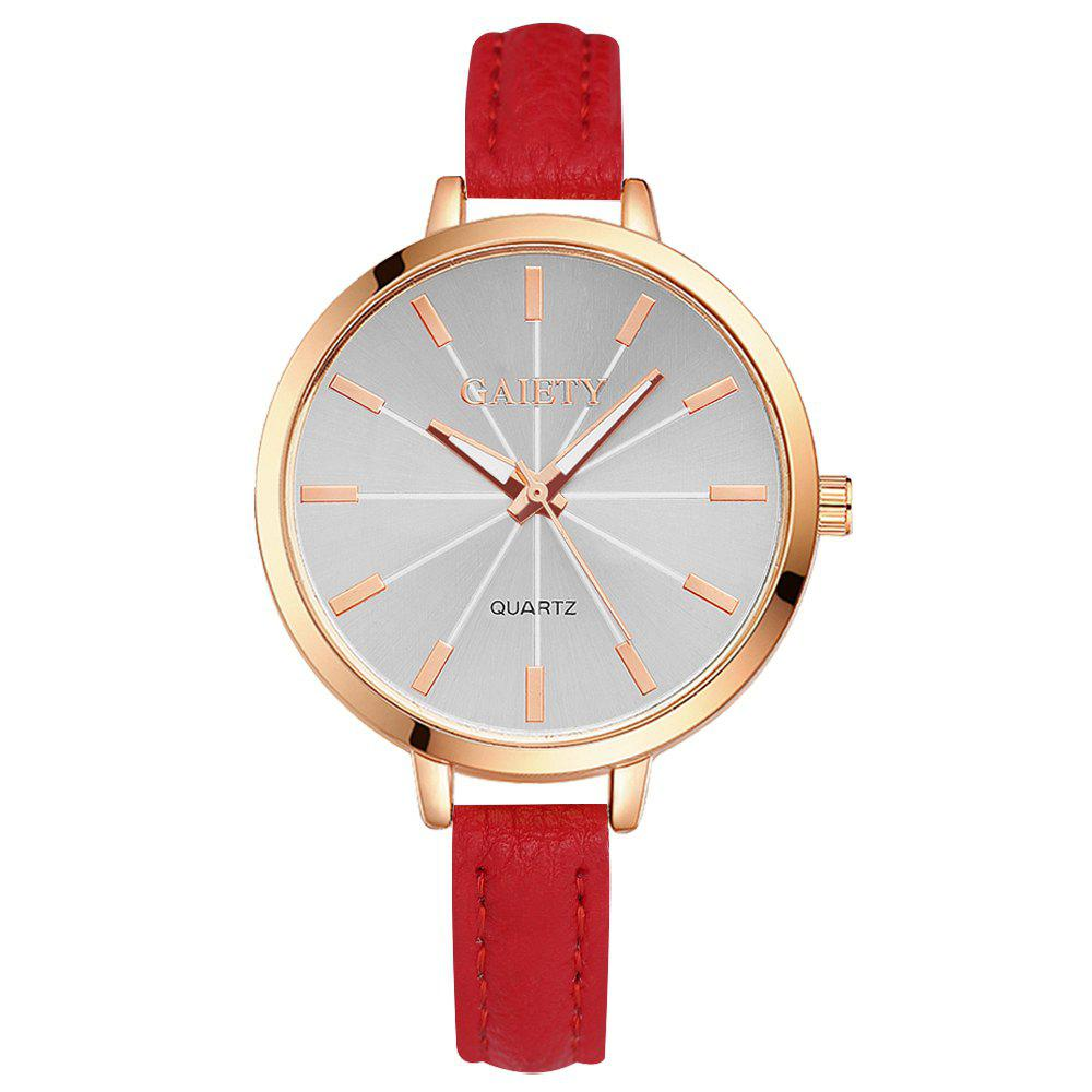 GAIETY G322 Women Fashion Leather Watch - RED