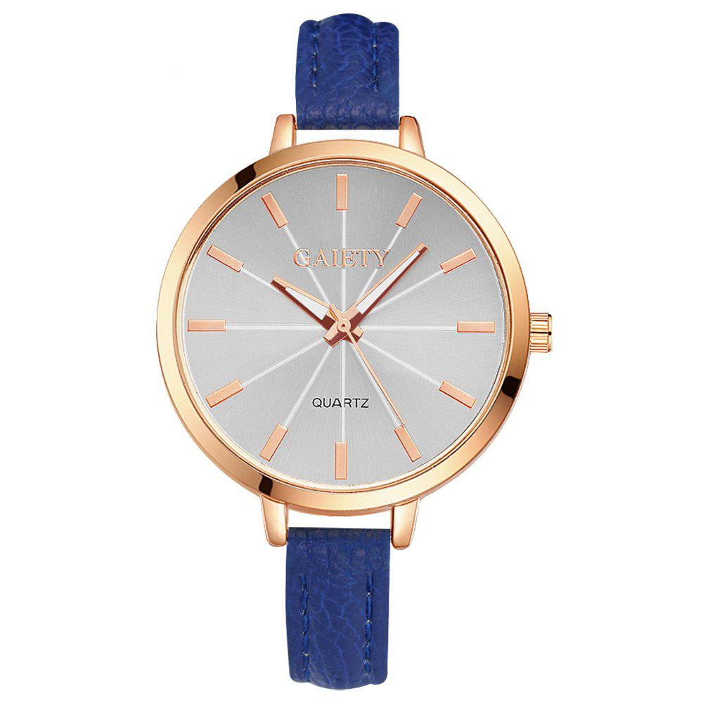 GAIETY G322 Women Fashion Leather Watch - BLUE