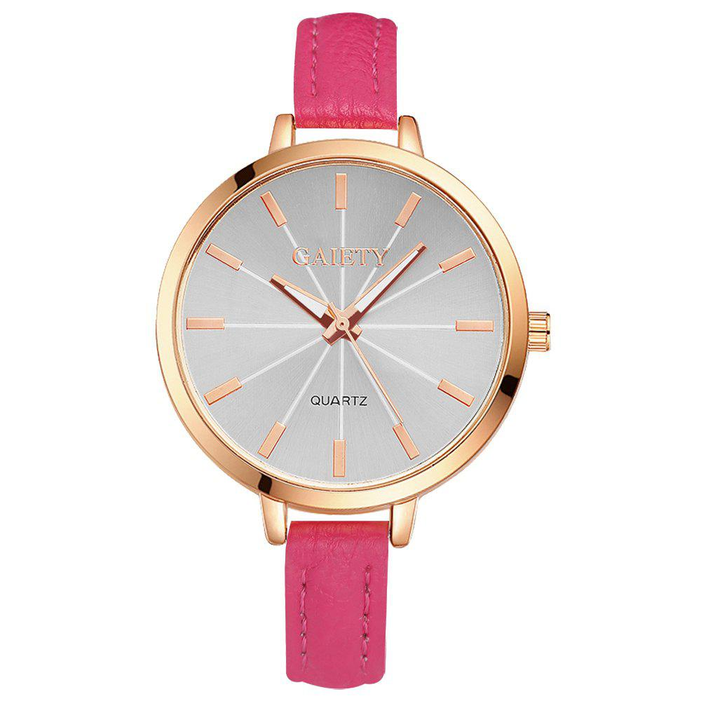GAIETY G322 Women Fashion Leather Watch - ROSE RED