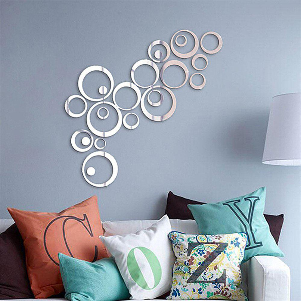 DIY Decal Circle Mirror Effect Home Decor Wall Sticker 24PCS сандалии alba сандалии