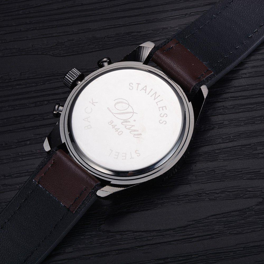 Disu Popular Fashion Watches Men's Casual Sport Quartz Watch - WHITE/GOLDEN