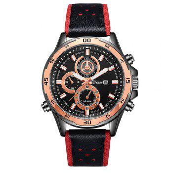 Disu Trend Men Fashion Calendar Sport Watch - RED