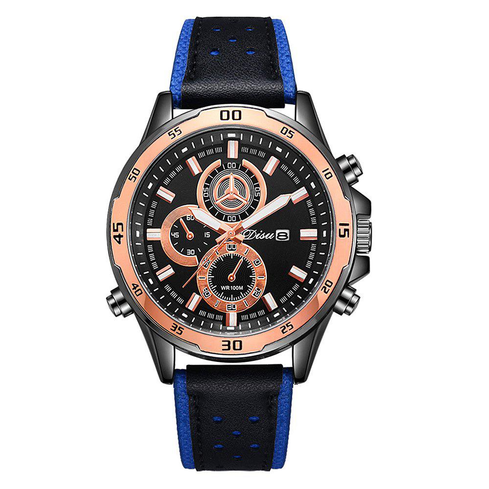 Disu Trend Men Fashion Calendar Sport Watch - BLUE