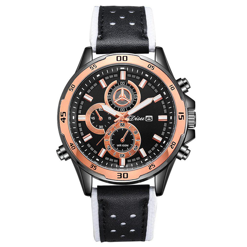 Disu Trend Men Fashion Calendar Sport Watch - WHITE
