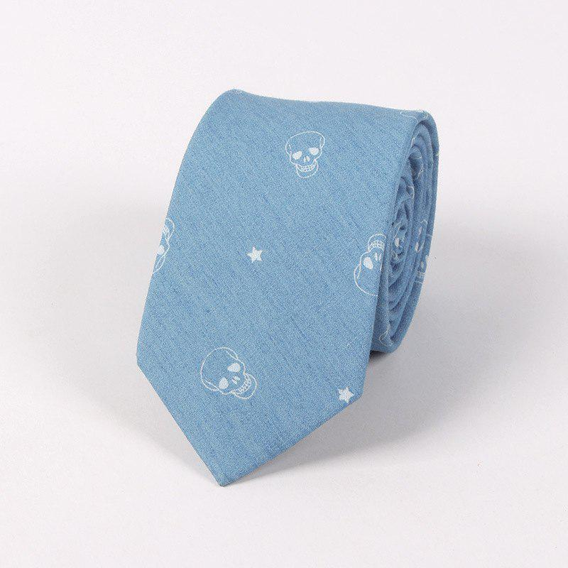 Casual Denim Printing Men'S Tie - CLOUDY