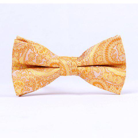 Men'S Classic Paisley Polyester Jacquard Bow - YELLOW