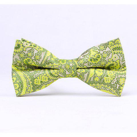 Men'S Classic Paisley Polyester Jacquard Bow - GREEN