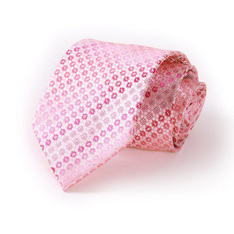 Men'S Casual Polyester Jacquard Tie - PALEPINK