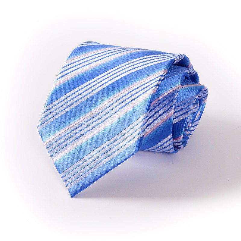 Men'S Casual Polyester Jacquard Tie - BLUE