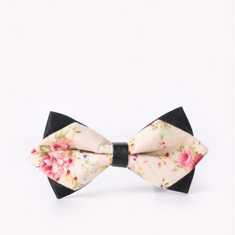 Men'S Leisure Floral Print Bow - WHITE/PINK FLOWER