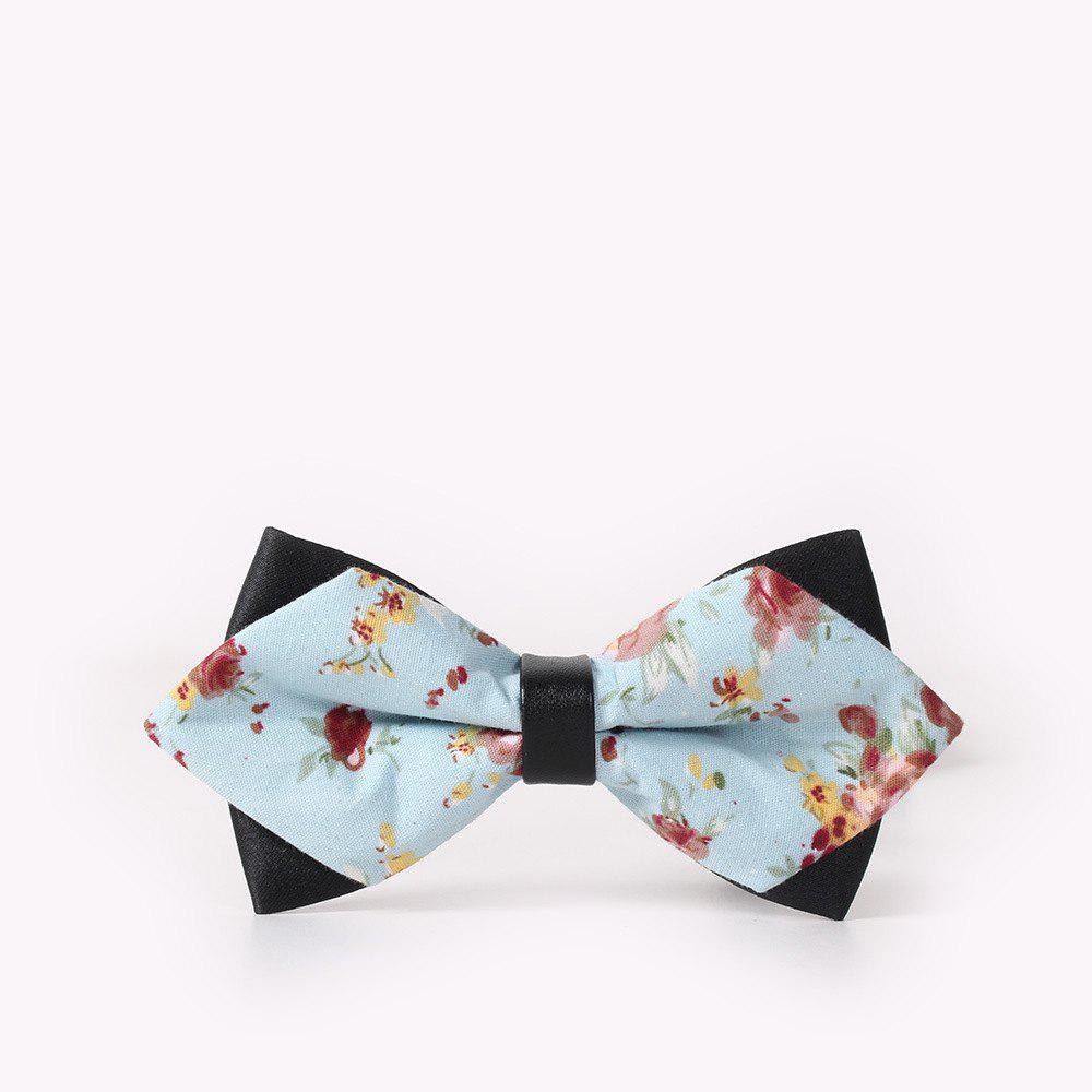 Men'S Leisure Floral Print Bow - BREEZY