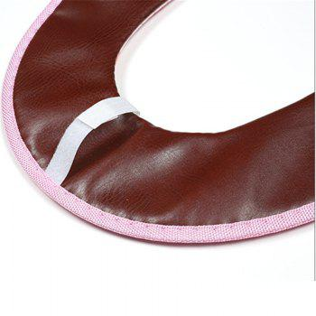 Padded Cloth Toilet Cover Winter Warm Toilet Seat Toilet Toilet Seat Stitching Stitching Toilet Seat - PINK
