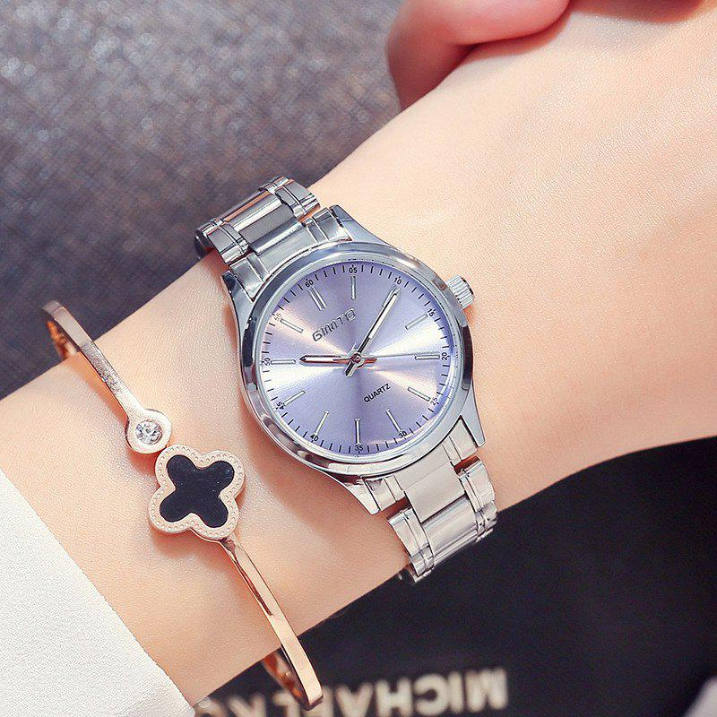 GIMTO Brand 2017 Fashion Bracelet Women Watches Luxury Steel Ladies Quartz Watch Waterproof Female Dress Clock relogio f - SILVER/BLUE