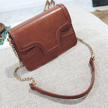 Female Retro Wild Organ Shoulder Bag -  CARAMEL