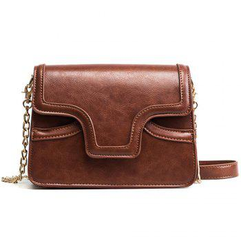 Female Retro Wild Organ Shoulder Bag - CARAMEL CARAMEL