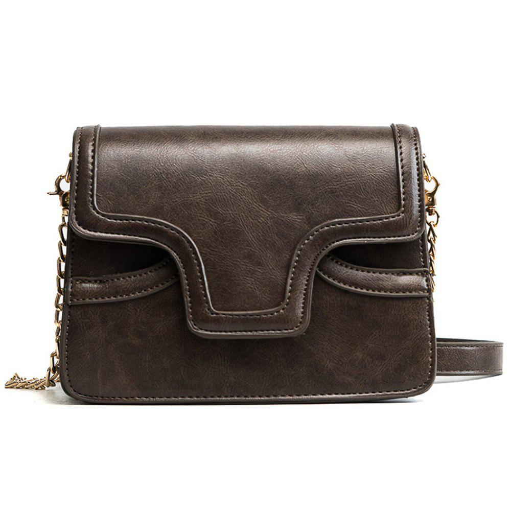 Female Retro Wild Organ Shoulder Bag - COFFEE