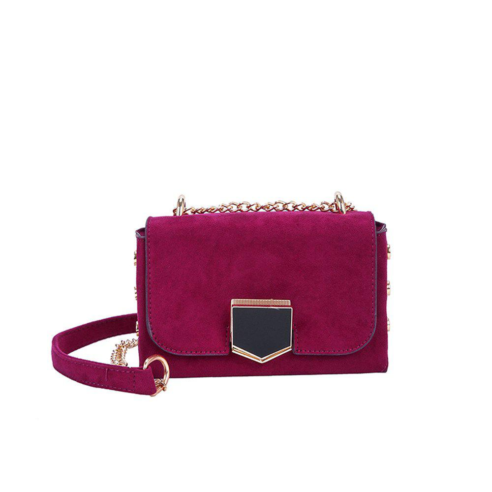Velvet Chain Wild Shoulder Small Square Package - PURPLE