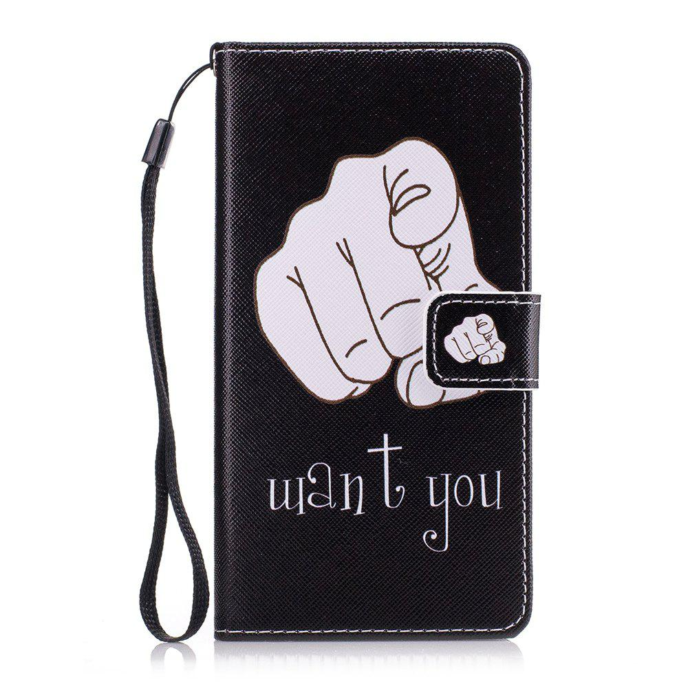 For Huawei Mate10Lite Color Painting Cover Lady Phone Protection Cover - BLACK