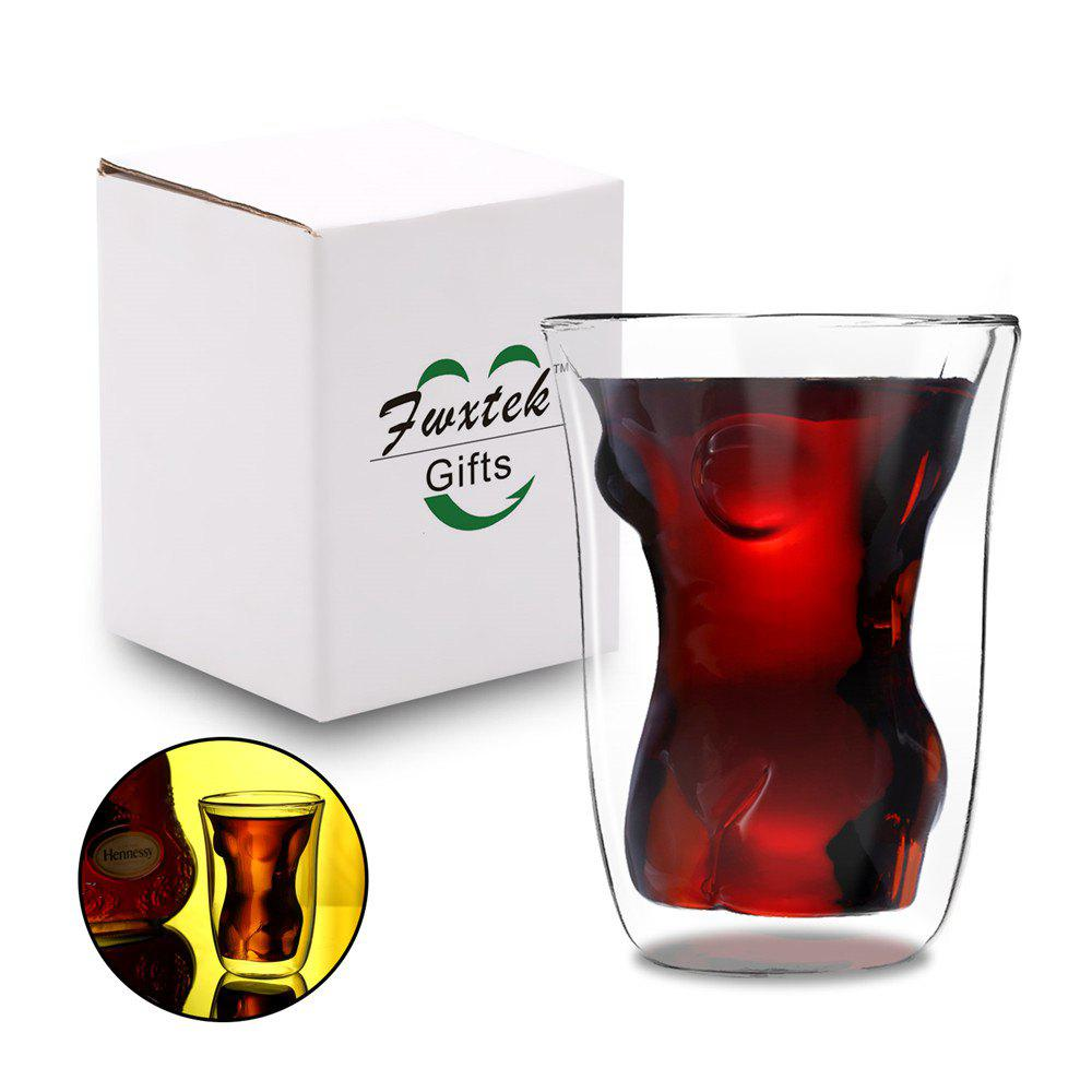 Wine Glass / Drink Cup / Cocktail Glass / Whisky Glass Double-Walled Clear Sexy Female Borosilicate Tumbler Novelty Glas remia partysauc whisky cocktail соус коктейль 300 мл