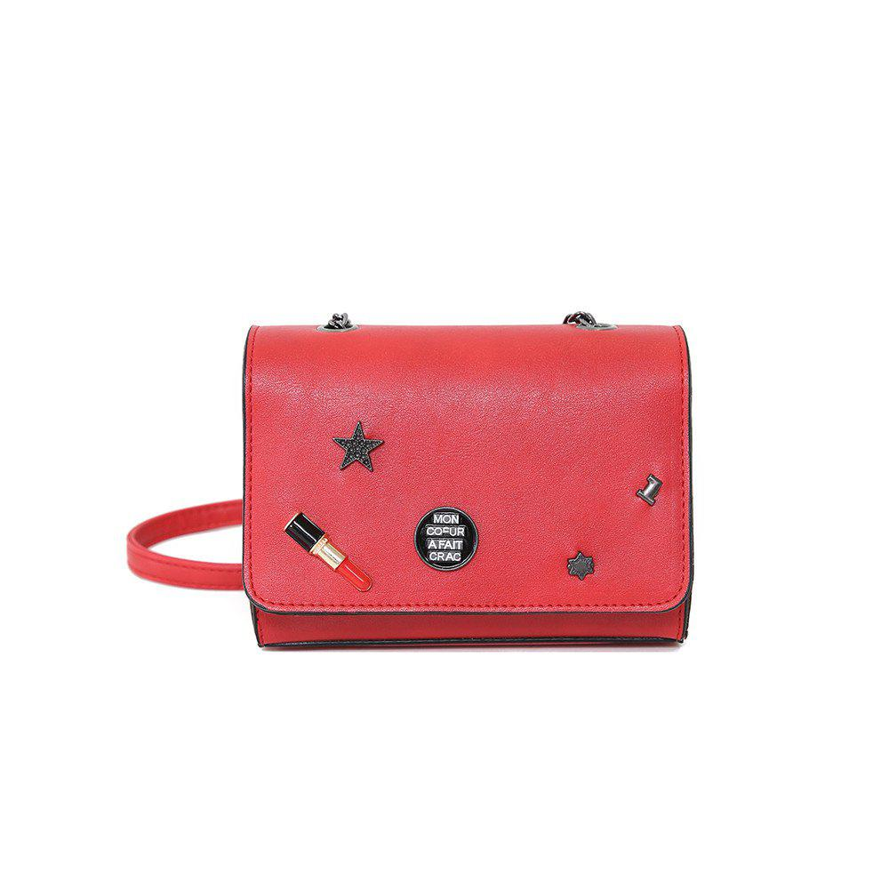 2017 New Tide Female Bag Chain Bag Mini Lipstick Bag Satchel Cute Retro Decoration Simple - RED