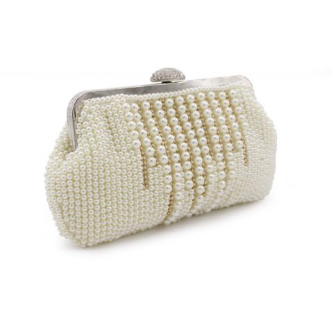 2017 New Freeshipping Solid Bag Mini Hasp Day Clutches Women Handbag Hot  Selling Pearl with Diamond dd4f721f7dc2