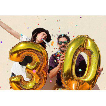 30th Birthday Decorations Happy Bday Banner Party Kit Pack B-day Celebration Supplies with Gold and Black Stars Balloons + Extra Large Golden Fringe Curtain for Men or Women - BLACK / GOLD 30TH
