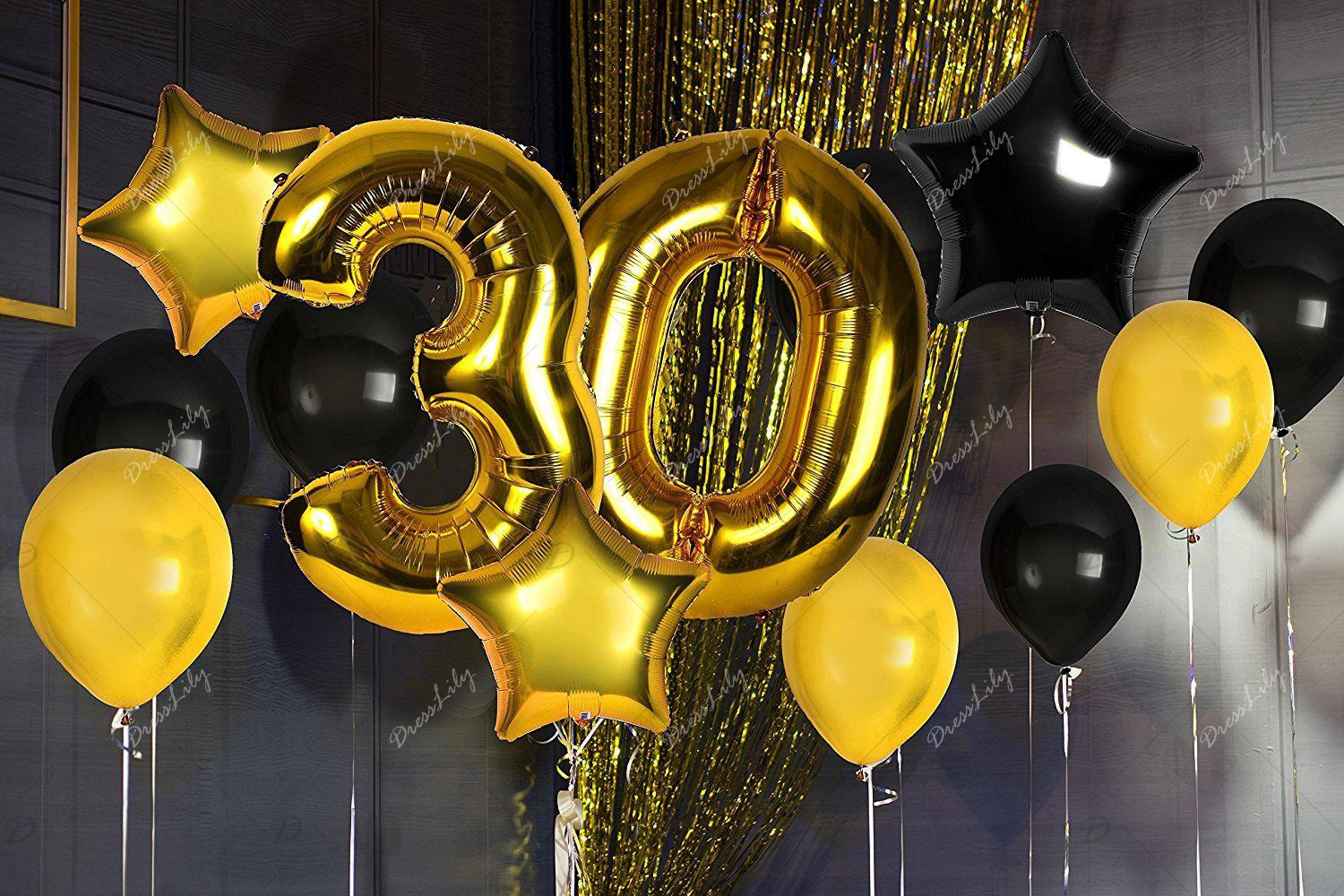 2018 30th Birthday Decorations Happy Bday Banner Party Kit