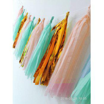 20pcs Mint Peach Glitter Gold Tissue Paper Pom Pom Gold Paper Tassel Polka Dot Paper Garland for Baby Shower Decoration Wedding Nursery Decorations Bridal Shower - multicolorCOLOR 20PCS