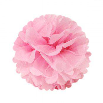 Pack of 16 Gold Pink White Paper Crafts Tissue Paper Honeycomb Balls Lanterns Paper Pom Poms Birthday Wedding Party Decoration - PINK 16PCS