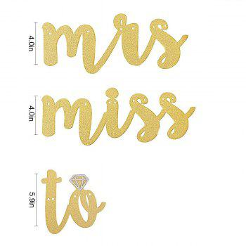 Bachelorette Decoration Miss to Mrs Banner For Wedding Bridal Shower Party Supplies - GOLD MISS TO MRS