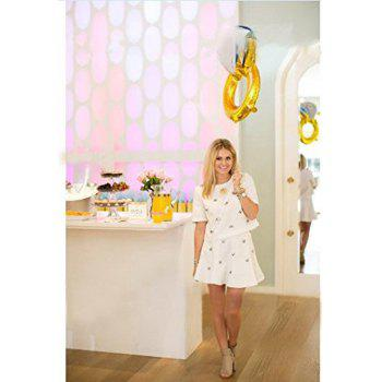Party Balloons 43 Inch and 33 Inch Diamond Ring Foil Balloons Helium Balloons for Wedding Decoration Bachelorette Party and Kids Party Decoration - AS THE PICTURE 43 INCH