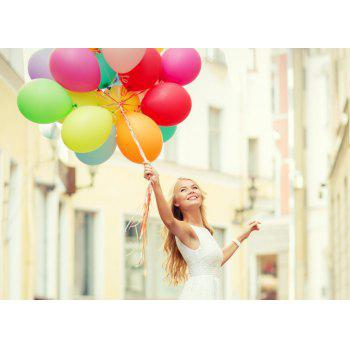 20pcs 12 Inches Air Balloons Assorted Color Party Decoration - YELLOW 20PCS