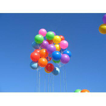 20pcs 12 Inches Air Balloons Assorted Color Party Decoration - WHITE 20PCS