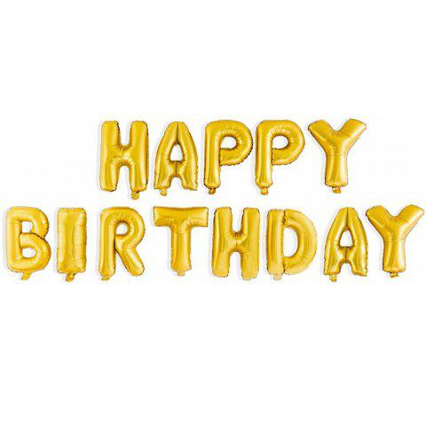 16 Inch Happy Birthday Balloon Alphabet Letters Foil Balloons for Birthday Party Decoration Supplies - GOLD HAPPY BIRTHDAY