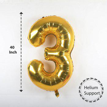 Letters Happy Birthday Banner and Gold Balloons and Streamer for 30th Birthday Party decorate - BLACK / GOLD 30TH