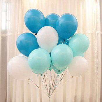 Pack of 100  12 Inch Aqua Blue Light Pink White Assorted Balloons Latex Matte Balloons Globos Party Birthday Wedding Balloons - PINK 100PCS