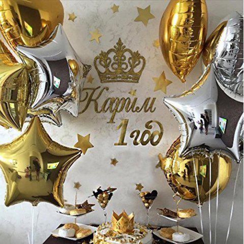 18 Inch Star Shape Foil Balloons for Kids Party Supplies Wedding Decoration Baby Shower or Birthday Decoration - SILVER 24PCS
