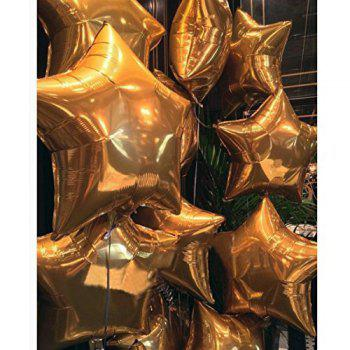 18 Inch Star Shape Foil Balloons for Kids Party Supplies Wedding Decoration Baby Shower or Birthday Decoration - GOLD 24PCS