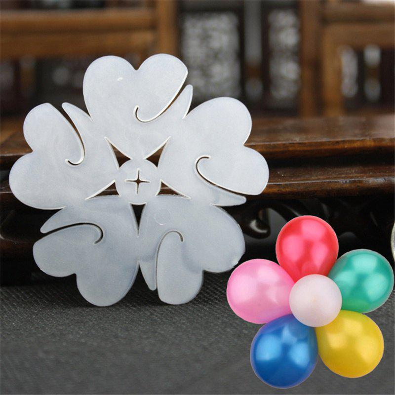 5PCS Multi Balloons Seal Clip Accessories Plum Flower Clip Home Decoration Wedding Birthday - WHITE 5PCS
