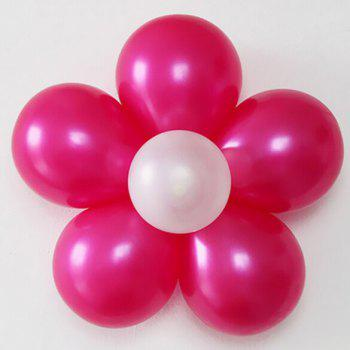 Prune fleur mariage décoration clip 10 pcs anniversaire cravate ballon 2016 Xmas Fashion Party - Blanc 10PCS