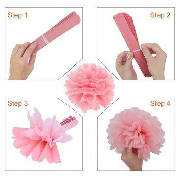 20pcs Tissue Paper Pom Pom Paper Tassel Polka Dot Garland for Baby Shower Wedding Nursery Decorations Bridal Shower - AS THE PICTURE 20PCS