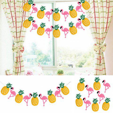 EASTERN ESPOIR Party Décorations Bannière Pink Flamingo Ananas pour Luau Hawaiian Summer Party Supplies - Comme l'image 9PCS