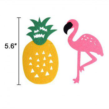 EASTERN ESPOIR Party Décorations Bannière Pink Flamingo Ananas pour Luau Hawaiian Summer Party Supplies - Comme Photo 9PCS