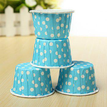 20Pcs Colorfu Paper Cake Cup Liners Baking Cupcake Cases Muffin Cake Colorful Wave Point - BLUE 20PCS