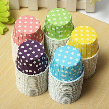 20Pcs Colorfu Paper Cake Cup Liners Baking Cupcake Cases Muffin Cake Colorful Wave Point - YELLOW 20PCS