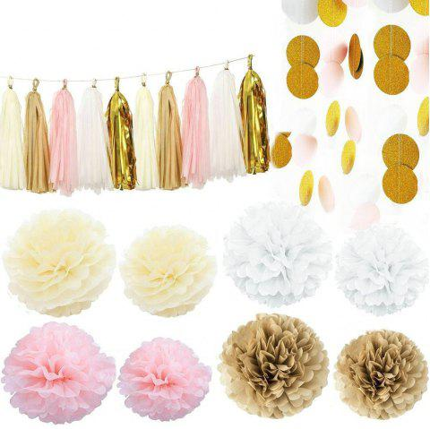 EASTERN HOPE 35PCS Tissue Paper Pom Poms Paper Honeycomb Balls Hanging Decoration Set for Birthday Party Wedding Home Decorations Baby Shower - multicolorCOLOR 35PCS